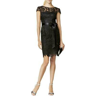 Adrianna Papell Lace Cap-Sleeve Illusion Sheath Dress $189 Size 4 # 10A 820 new