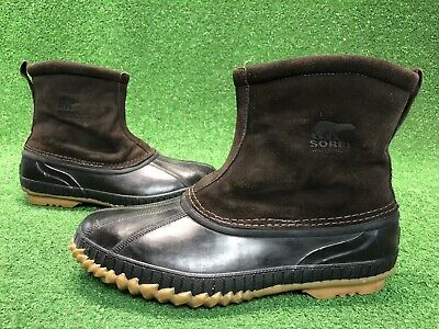 ce97c808e6d SOREL ARAPAHO SLIP On Thinsulate Duck Boots Waterproof Leather Mens ...