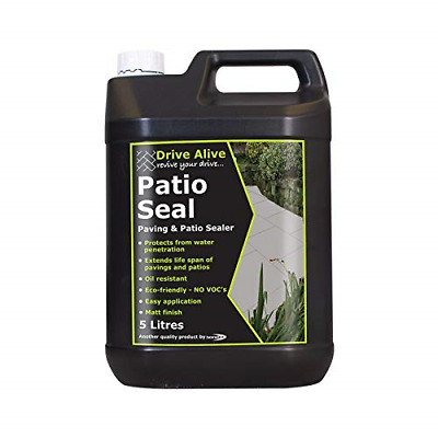 Bond It Builders Complete Patio Seal - Paving And Patio Sealer - Clear Liquid --