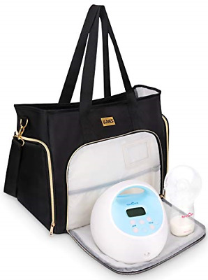 Breast Pump Bag Compatible for Spectra S1,S2,Madela,Lansinoh Electric Breast - &