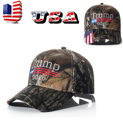 Donald Trump 2020 MAGA  Dark Camo Embroidered Hat Keep America Great Again Cap