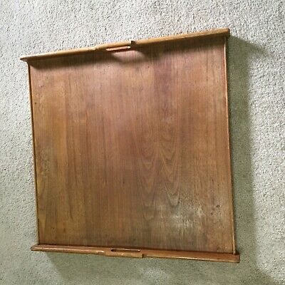 60s MCM Mid-Century Modern OAK? Walnut? DREXEL Folding Table TOP Wood Tray Only