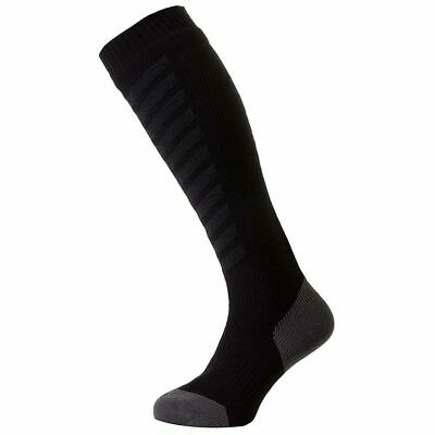 Sealskinz Mtb Black Anthracite Waterproof Thin Knee Length Socks Mx