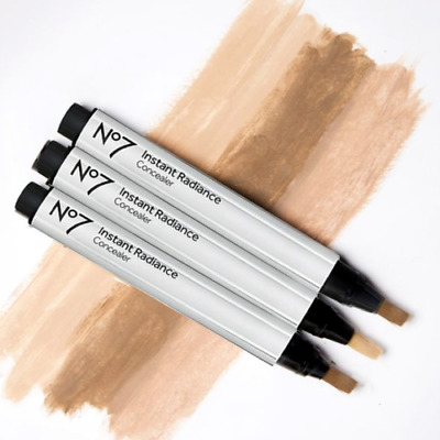 No 7 Instant Radiance Under Eye Concealer - Boxed - Choose Your Shade