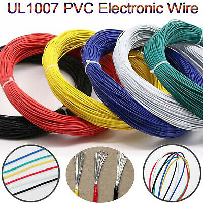 20AWG Flexible Stranded UL 1007 PVC 20# Electrical Wire Cable 6 Colors 10-100M