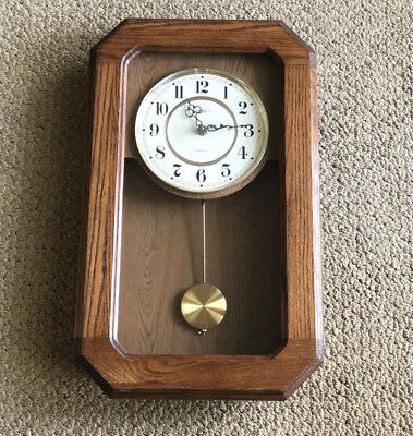 HOWARD MILLER Westminister Oak Chime Wall Clock 613-237