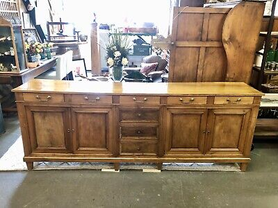 Antique French Louis Philippe Enfilade Buffet Sideboard Server c. 1840