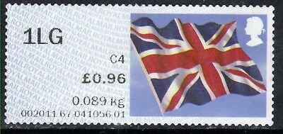 GB 2012 QE2 1st Large 96p Post & Go Union Flag no date code Unused No Gum (A571)