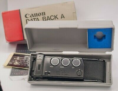 Boxed - Canon Data Back A For Canon FD A-1 AE-1 Program AT-1 SLR Cameras