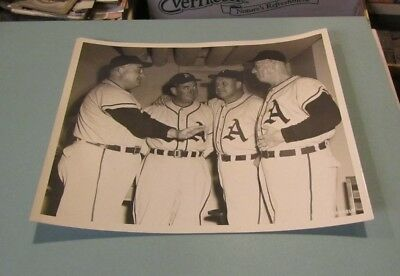 Philadelphia Baseball Photo Al Simmons Lefty Grove Jimmie Foxx Mickey Cochrane