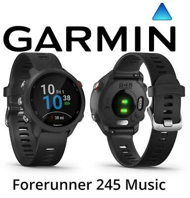 Garmin Forerunner 245 Music GPS Black Running Training Smartwatch, HR Features