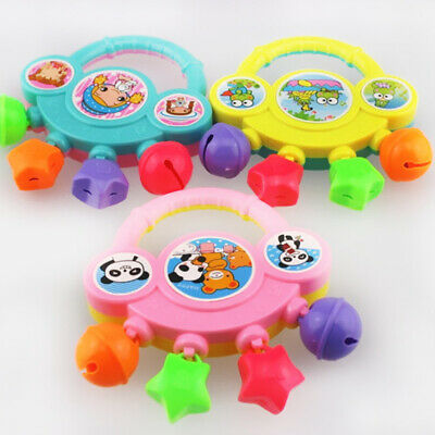 Infant Baby Bell Toy Rattles Harmless Non-toxic Colorful Cartoon Training ABS
