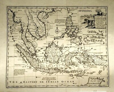 SO-Asia. 'A new and accurate map of the East India Ilands'. London 1747,Rarität!