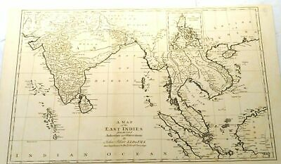 An antique map of the East Indies by John Blair, London 1768