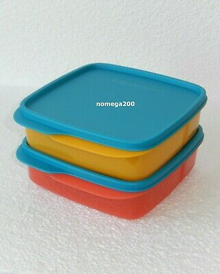 Tupperware Lunch It Containers Set Hot Pepper/Papaya/Peacock