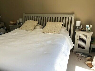 ab6ebdfc3612 John Lewis Super King Solid Wooden Bed Frame Painted Annie Sloan Shabby Chic