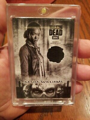 Sasha Williams 2018 Topps AMC The Walking Dead Worn Relic Authentic #5/5  WOW