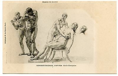 Nude Artistique. Naked. Drawings of the Louvre.girodet-trioson. French School