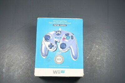 PDP Wired Fight Pad for Nintendo Wii U - Metal Mario