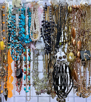 50 Pc Lot Statement Fashion Jewelry Necklaces Earrings Bracelets Sets NEW Tags