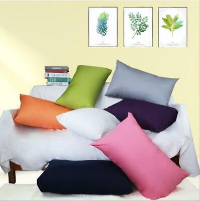 Cotton Solid color Pillow case Bolster Cushion cover Pillowcase HT-CTDP