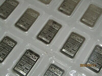 Johnson Matthey 1 oz 999 silver bar Series A Serial # Sealed from the Mint