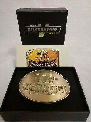 Star Wars Celebration V Exclusive Ralph McQuarrie Belt Buckle ATAT empire 40th