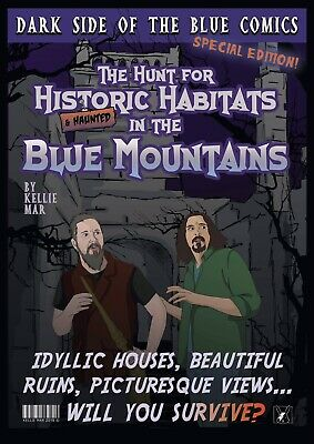 Dark Side of The Blue - The Hunt for Historical & Haunted Habitats - Comic Book