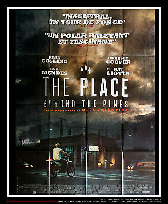PLACE BEYOND PINES RYAN GOSLING 4x6 ft French Grande Movie Poster Original 2013