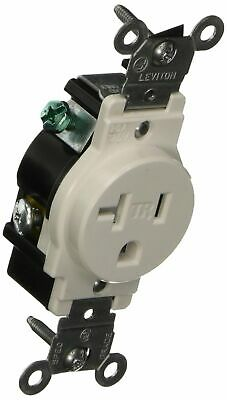 LOT OF 10 Leviton White TAMPER RESISTANT Single Outlet Receptacle 20A T5020-W
