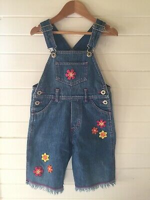 Pumpkin Patch Denim Overalls / Dungarees - VINTAGE - Size 3 years (#D1826)