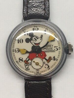 Vintage 1934 Ingersoll No 1 English Mickey Mouse Wrist Watch Antique  30s Rare