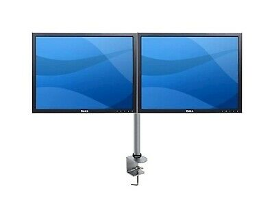 2x Dell 2007FP 20in Monitors w/ Orbit Dual Mount, Clamp, Silver, 12MthWty