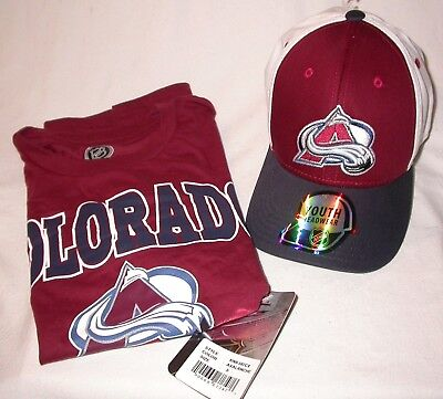 2347a9d0 Child's Small 6-7 Colorado Avalanche NHL T Shirt & Hat Licensed NHL NEW w