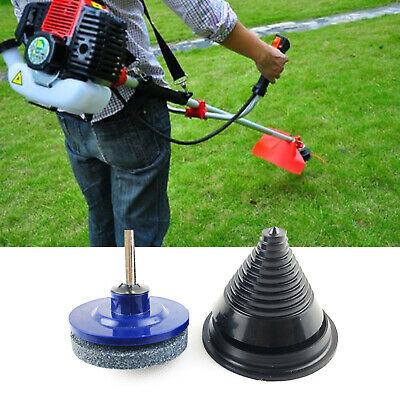 Rotary Lawnmower Blade Garden Tool Sharpener And Balancer Set New