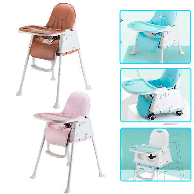 Adjustable 3 in 1 Baby Highchair Infant High Feeding Seat Toddler Table Chair UK