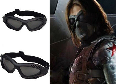 Captain America:The Winter Soldier Bucky Barnes Goggles Cosplay Eyes Masks Props