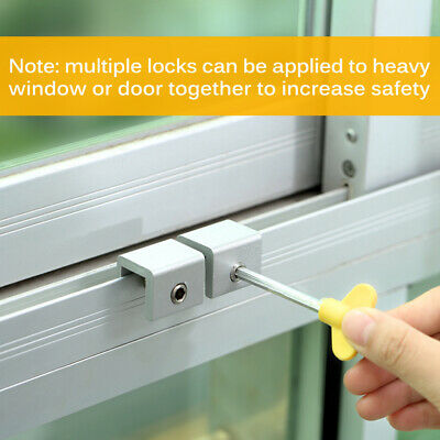 4x Home Kids Safe Security Sliding Window Door Sash Lock Restrictor Safety Catch
