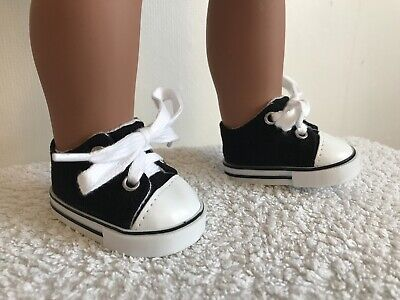 "18"" Inch Doll Girl Black Trainers Shoes American Girl Our Generation"