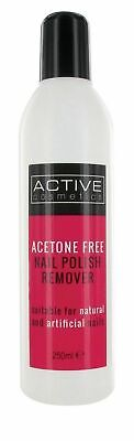 New Active Nailcare System Acetone Free Nail Polish Remover 250ml