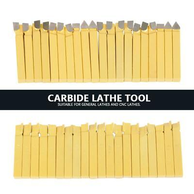 """20Pcs 3/8"""" Lathe Tools Carbide Tipped Welding Milling Cutting Turning Tools"""