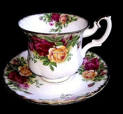 Vintage Royal Albert Bone China Old Country Roses Coffee Cup &  Saucer 1St Qlty