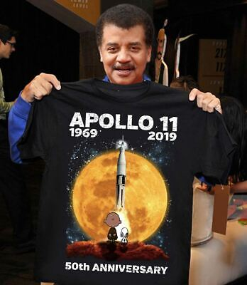 Apollo 11 50th Anniversary Moon Landing 1969 2019 Snoppy & Charlie T-Shirt