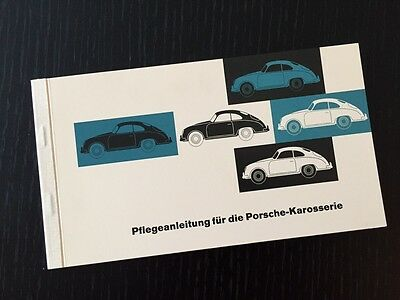 Original Porsche 356 Karosserie Reutter Pflegeanleitung - Manual