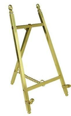 Mini Display Easel Brass Photo Picture Frame Tabletop Stand Wedding Art