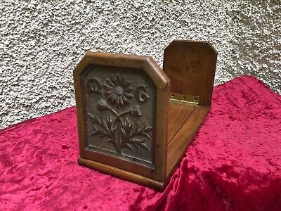 Superb Bookend Books Antique Wooden Religious Forest Black Flowers