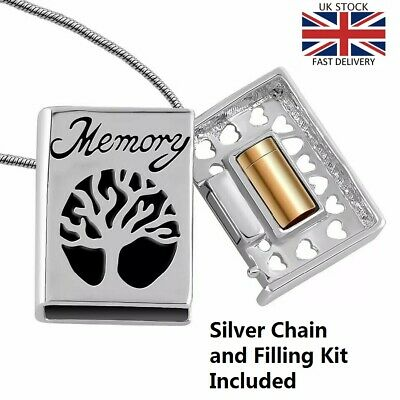 Memory Book Locket Cremation Urn Pendant Ashes Necklace Memorial Jewellery