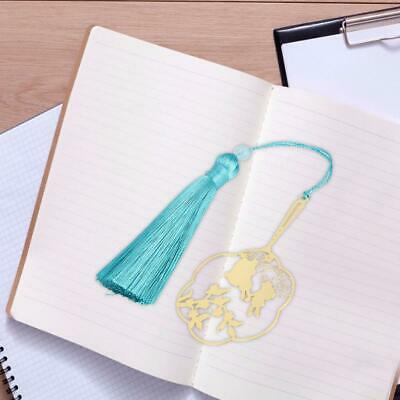 Exquisite Chinese Style Brass Circular Fan Retro Tassel Bookmarks Book Markers