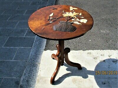 Victorian Shibayama Japanese Meiji Period Plaque - Converted Into A Wine Table