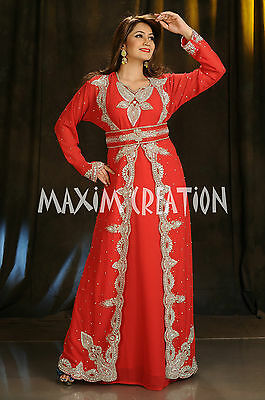 Designer Kaftan Henna Evening Cocktail Party Maxi Gown By Maxim Creation 4392